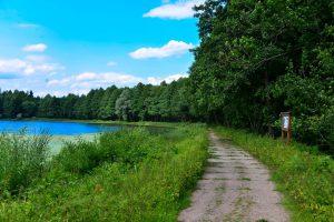 Topiło - szlak dookoła jeziora